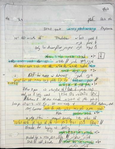 Ivrit and Dikduk Notes